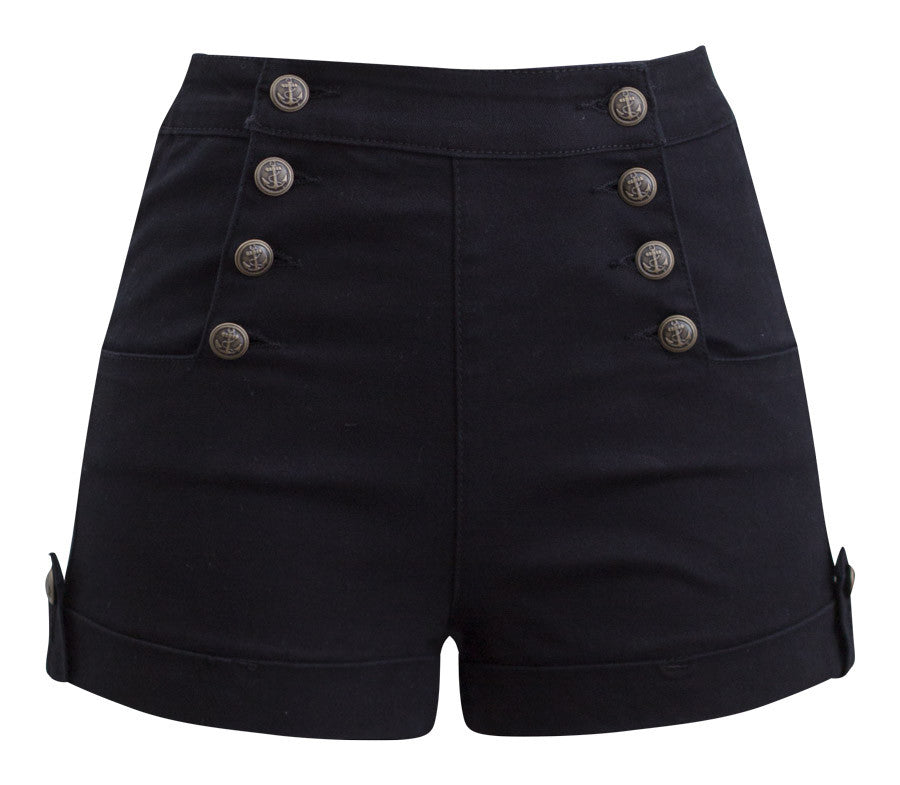 high waisted shorts pin up