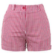 Sailor Girl High Waisted Striped Shorts in Red & White