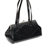 Black Glitter High Roller Kiss Lock Purse