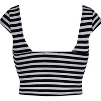Miss Vixen Striped Crop Top