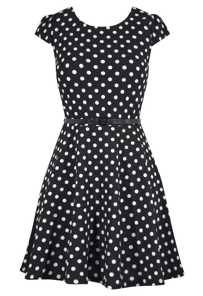 Polka Dot Cap Sleeve Pinup Dress. Pin up, retro, rockabilly, and ...