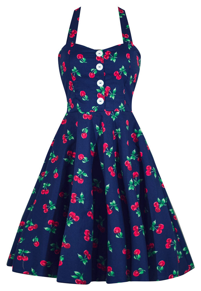 Retro Gal Cherry Print Swing Dress