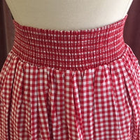 Gingham Swing Skirt with Pockets in Red
