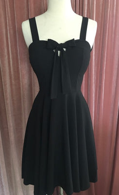 Sailor Girl Swing Dress with Pockets in Black