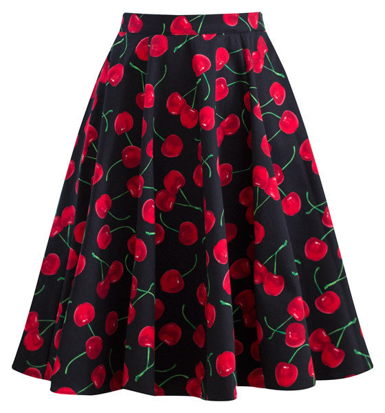 Retro Gal Swing Skirt in Black Cherry