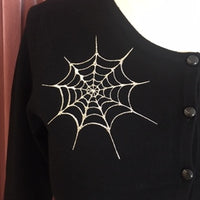 Ghoul Gal Spiderweb Cardigan in Black