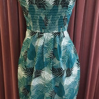 Tropical Palm Leaf Mahina Sarong Dress