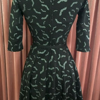 Black & Grey Batty For You Swing Dress