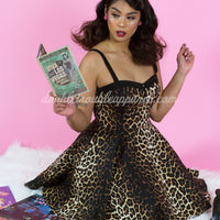 Leopard Print Panthera Swing Dress in Black & Brown Cheetah