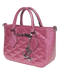 Hold Fast Mini Tote in Pink Sparkle by Lux De Ville