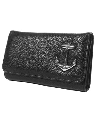 Hold Fast Wallet in Black Matte by Lux De Ville