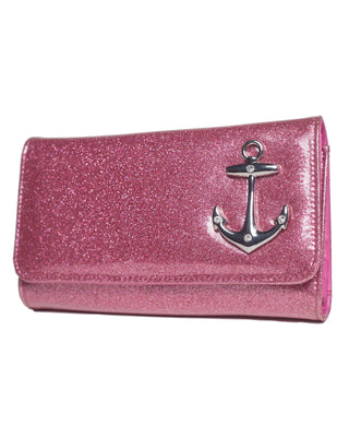 Hold Fast Wallet in Pink Sparkle by Lux De Ville