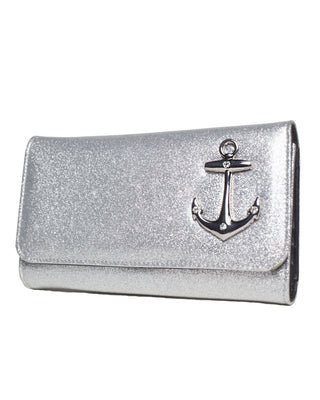 Hold Fast Wallet in Silver Thunderstruck by Lux De Ville