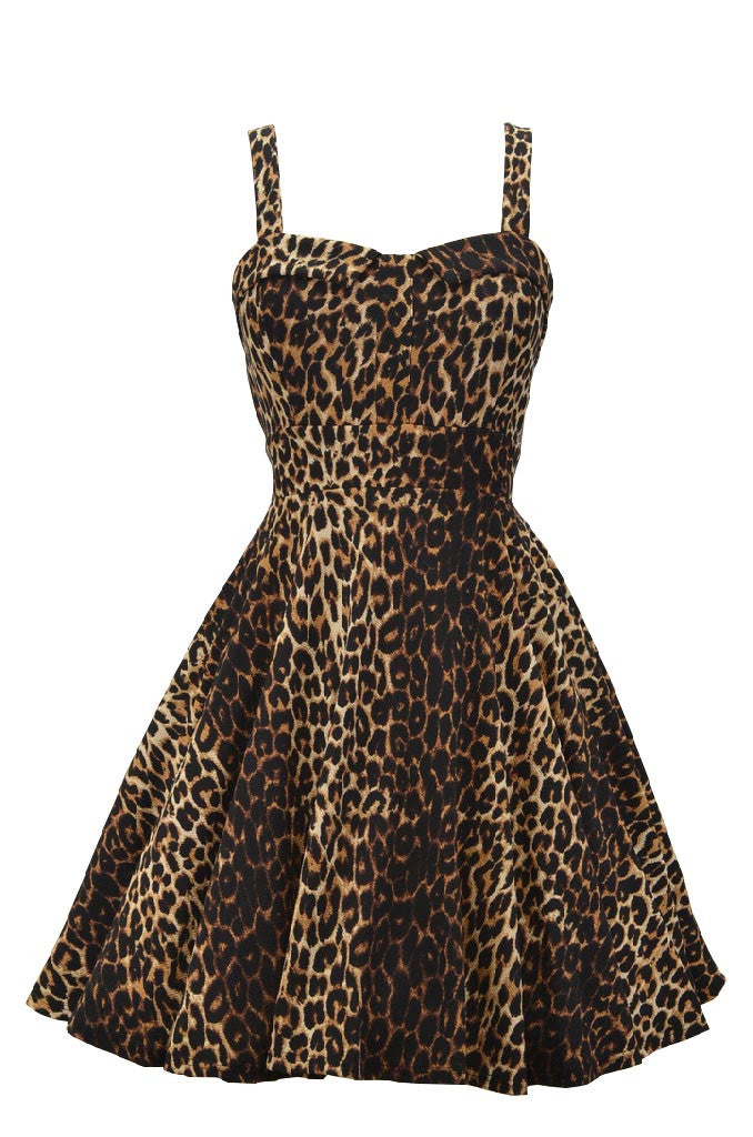 Retro Leopard Bombshell Dress