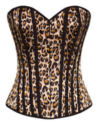 Leopard Corset Top in Black & Brown - FINAL SALE