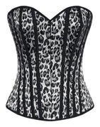 Leopard Corset Top in Black and Grey - FINAL SALE