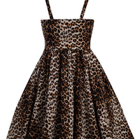 Retro Inspired Leopard Swing Dress with Pockets