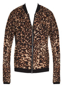 Leopard Print Zip Up Bomber Jacket - FINAL SALE