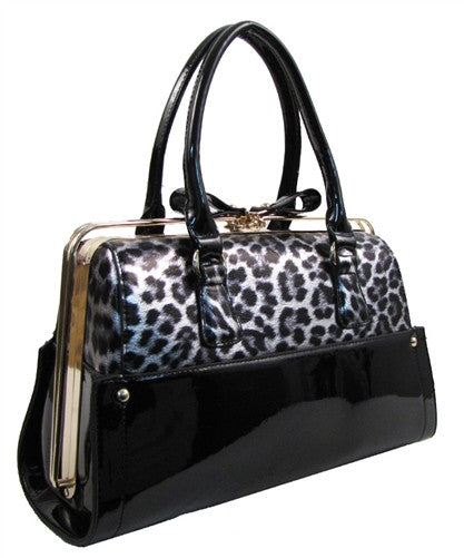 Retro Slide Lock Handbag in Leopard