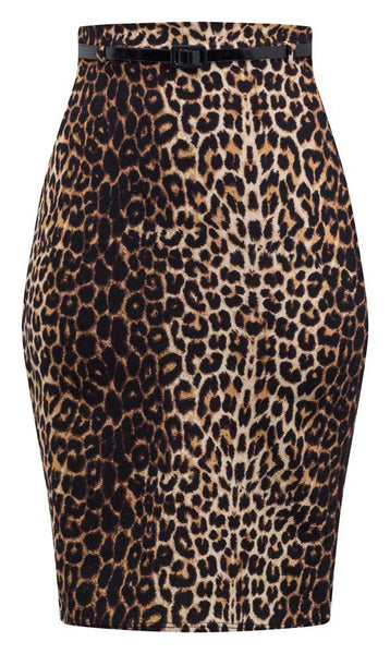Altuzarra& leopard-print pencil skirt is a brand signature. Made in Italy, this stretch-cotton style is easy to move in thanks to an exaggerated, asymmetric s.