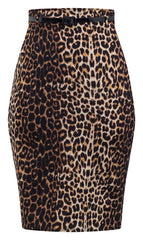 Bombshell Leopard Print Pencil Skirt