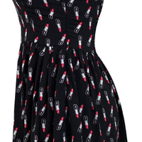 Glamour Girl Lipstick Print Dress