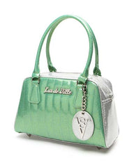 V8 Tote in Baby Green & Silver by Lux De Ville