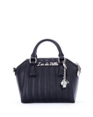 Lux De Ville Mini Lady Vamp Tote in Matte Black