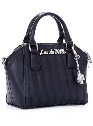 Mini Lady Vamp Tote in Matte Black by Lux De Ville (with crossbody strap)