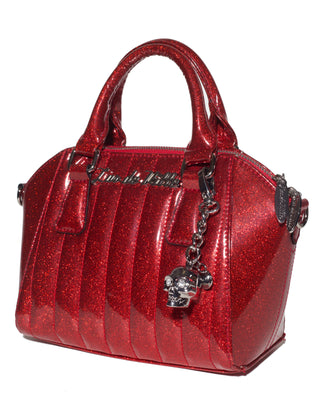 Lux De Ville Mini Lady Vamp in Red Sparkle