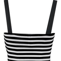 Striped Pin Me Up Crop Top ***PRE-ORDER***