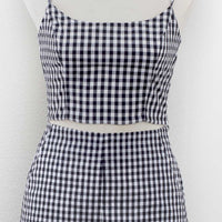 Retro Gal Gingham Crop Top