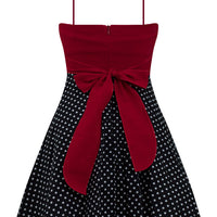 Rockabilly Polka Dot Dress with Petticoat in Red