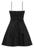Rockabilly Polka Dot Dress with Petticoat in Black