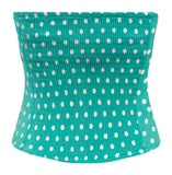 Polka Dot Corset Top in Retro Mint Blue