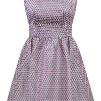 Lavender Metallic Polka Dot Retro Holiday Dress