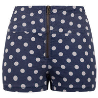 High Waist Polka Dot Shorts - XS Only