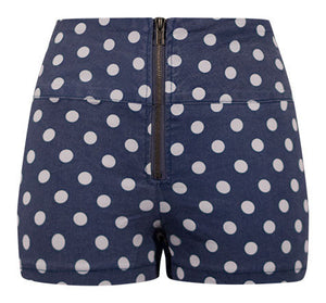 High Waisted Polka Dot Shorts - XS Only