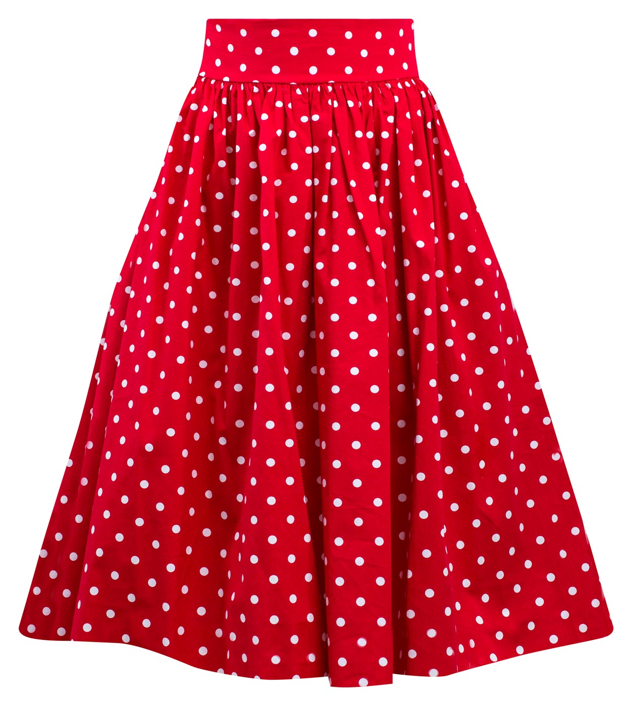 546288455912 Polka Dot Swing Skirt with Stretch Waist in Red – Double Trouble Apparel