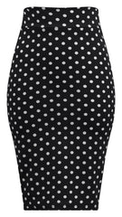 Polka Dot Pencil Wiggle Skirt