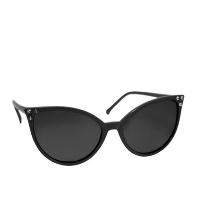 Retro Inspired Cat Eye Sunglasses in Black