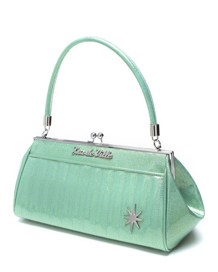 Lux De Ville Stardust Kiss Lock in Baby Green Sparkle