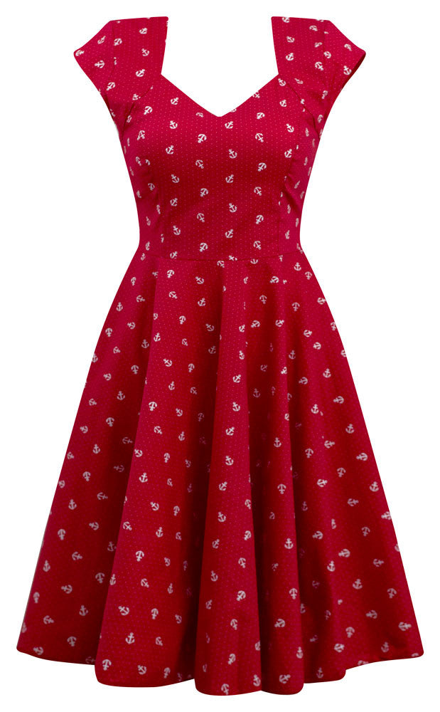 Anchor Print Sailor Girl Swing Dress