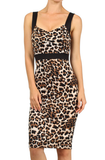 Miss Vixen Pin Up Leopard Pencil Dress