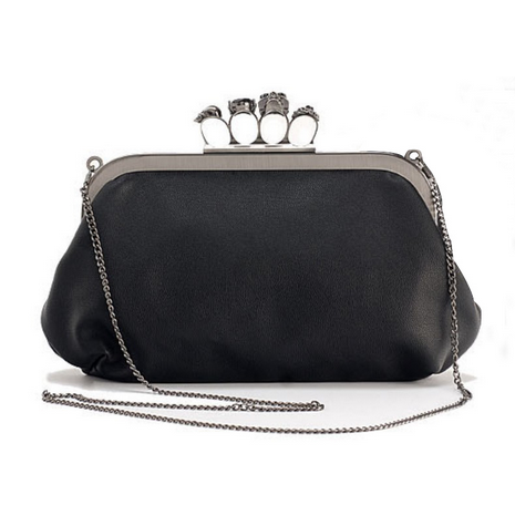Skull Knuckle Ring Clutch Handbag