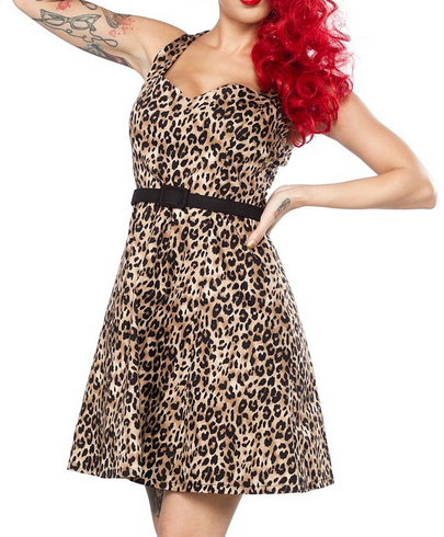 Leopard Floozy Dress by Sourpuss