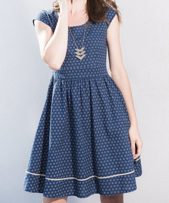 Delaware Dress in Blue by Mata Traders - FINAL SALE