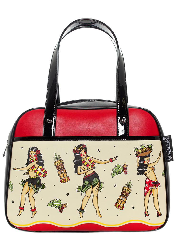 Hula Girls Tiki Bowler Purse