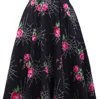Kiss of the Spider Vintage Inspired Swing Skirt with Pockets