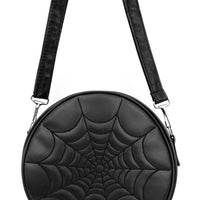 Black Vinyl Spiderweb Ghoul Bag